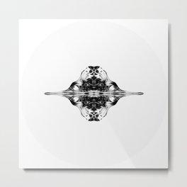Lineart_butterfly  Metal Print