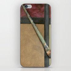 Artist Brush On Abstract Copper Canvas Artwork - Vintage - Modern Art - Painter iPhone & iPod Skin