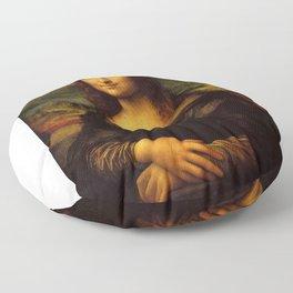 Monalisa, Leonardo Da Vinci, Mona Lisa, original Floor Pillow