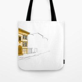 Yellow San Francisco Haus Tote Bag