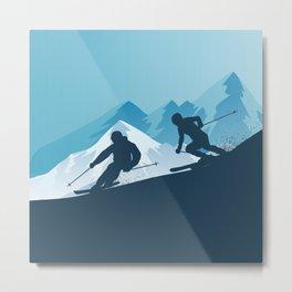 Let's Ski • Winter Sport • Christmas Special Metal Print