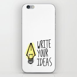 Write Your Ideas iPhone Skin