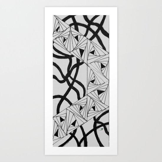 Paradox Ribbon Art Print