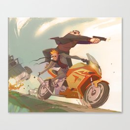 Agent Calvin and Hobbes: The Worlds a Playground Canvas Print