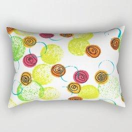 Spirals and Circles Rectangular Pillow