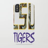 decal iPhone & iPod Cases featuring LSU NEW DECAL by The Greedy Fox