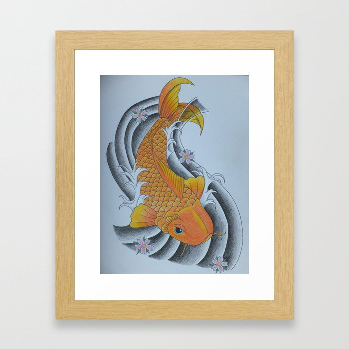 Japanese Koi Framed Art Print