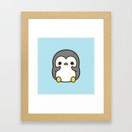 Shy penguin Framed Art Print
