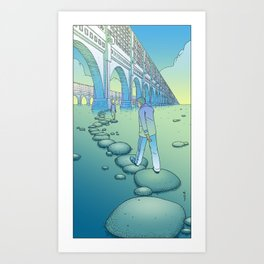 Stepstones / TheTail Art Print