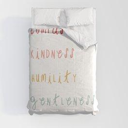Colossians 3:12 Put on Compassion Kindness Bible Verse Art For Kids Boho Rainbow  Comforters