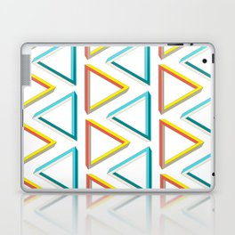 Impossible triangles geeky pattern. Laptop & iPad Skin