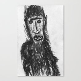 Hairy Half Man Canvas Print