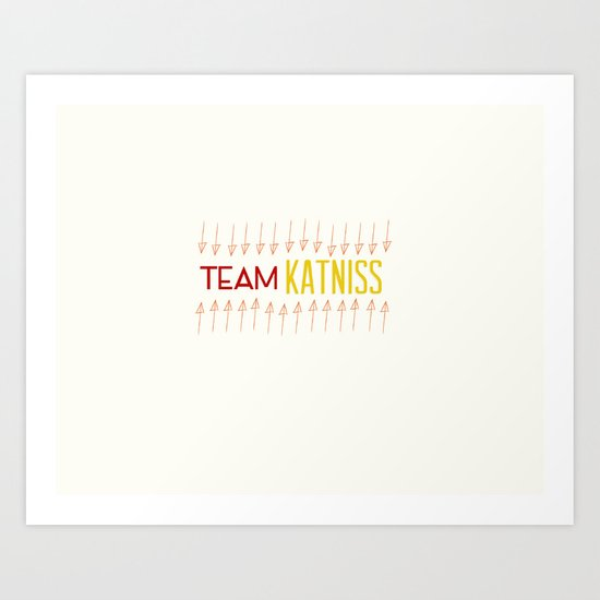 Team Katniss Art Print