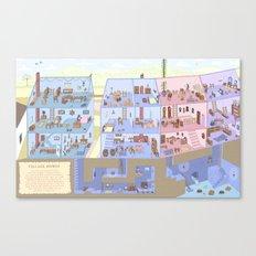 Village Homes Maze Canvas Print