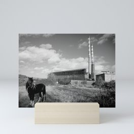 Lonely Poolbeg Pony, Old Poolbeg Generation Station, Dublin, Ireland Mini Art Print