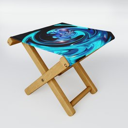"""Cut Blue Diamond""  Folding Stool"