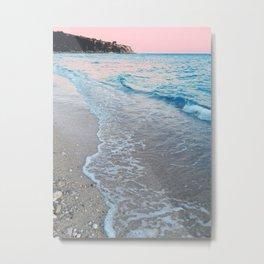 Pink Ocean Sunset Metal Print