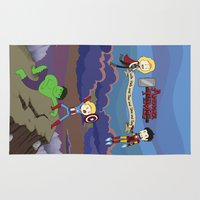 avenger Area & Throw Rugs featuring Avenger Time! by Det Guiamoy