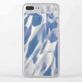 Snowdrifts, the field in winter Clear iPhone Case