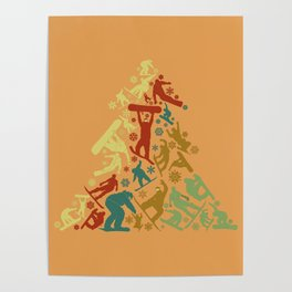 Snowboarder X-Mas Tree Gift Poster