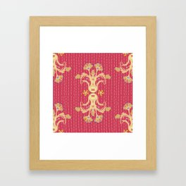 Kantha bouquet 7 Framed Art Print