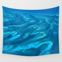 Dramatic Blue Ocean Waves Wall Tapestry