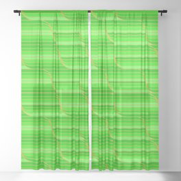 Geo Stripes - Green Sheer Curtain