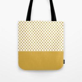 Retro Polka Dots (Spicy Mustard) Tote Bag