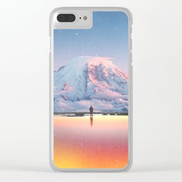 Mount Rainier Washington State Clear iPhone Case
