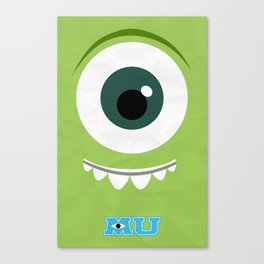 Monsters University Minimalist Poster Canvas Print