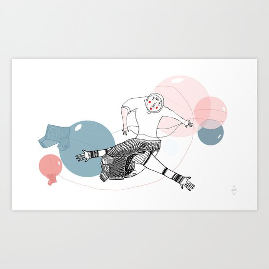 farewell bubbles  Art Print