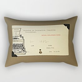 A typewriter and a library catalogue card 1 Rectangular Pillow