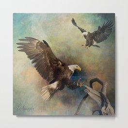 Eagles Are Landing Metal Print