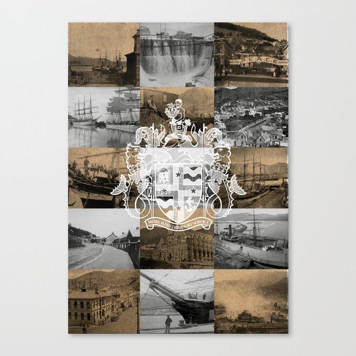 Historical Lyttelton White & Kraft Canvas Print