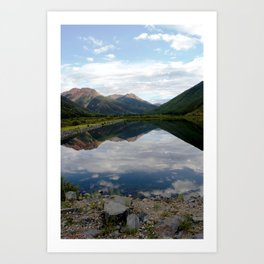 Reflection of the Red Mountains on Crystal Lake Art Print
