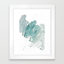 brushstrokes 11 aquamarine Framed Art Print