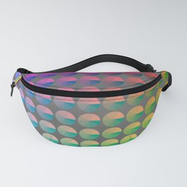 Rainbow pie chart pattern Fanny Pack