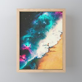 Wrapped In The Wave Framed Mini Art Print