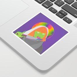 Neon Queen of Halloween Sticker