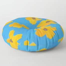Flowers In The Sky Floor Pillow