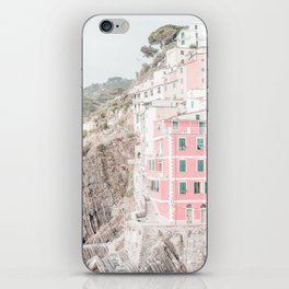 Positano, Italy pink-peach-white travel photography in hd. iPhone Skin