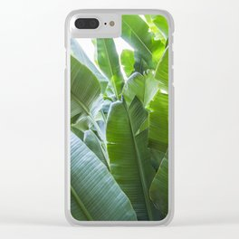 Banana Leaves | Green | Home Decor | Art Print | Tropical Plant Clear iPhone Case