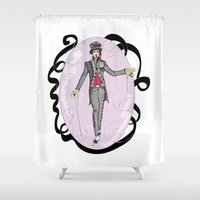 mad hatter Shower Curtains featuring The Mad Hatter by Anca Avram