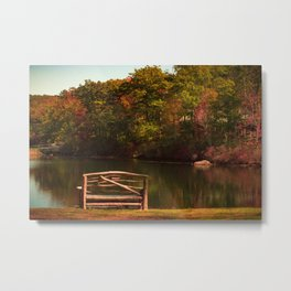 Fall shows us how beautiful it is to let things go Metal Print