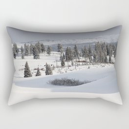 Yellowstone National Park - Blacktail Deer Plateau Panorama Rectangular Pillow