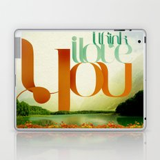 I Think I Love You Laptop & iPad Skin