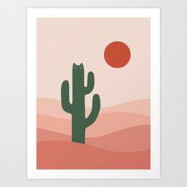 Cat Landscape 84: Cat-tus Art Print