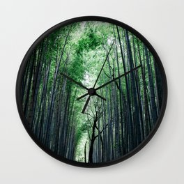 Bamboo Forest, Kyoto, Japan 2 Wall Clock