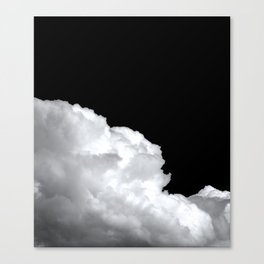 stormy white clouds at night - portrait Canvas Print