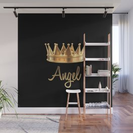 Gold Crown Angel Wall Mural